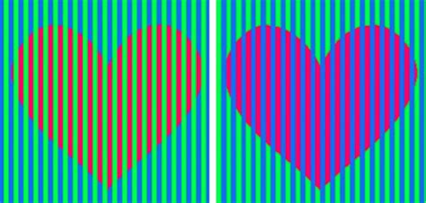 color illusions hearts color optical illusion explained bgr