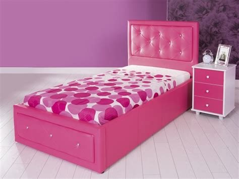 pink beds gfw 3ft single pink faux leather ottoman lift bed frame by gfw