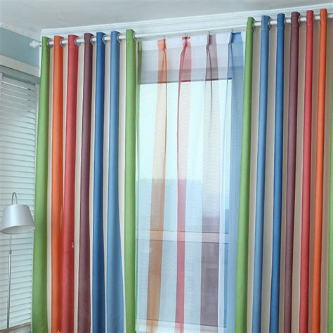 Multi Colored Curtains Drapes Cheap Striped Curtains Curtain Menzilperde Net