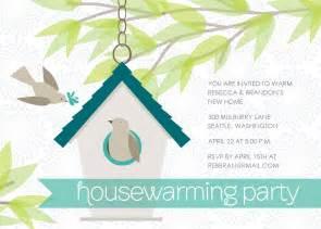 teal housewarming invitation
