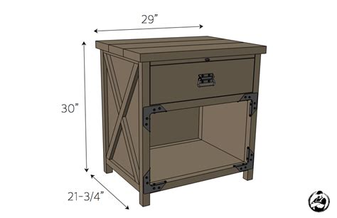 height of nightstand simpson diy nightstand plans rogue engineer