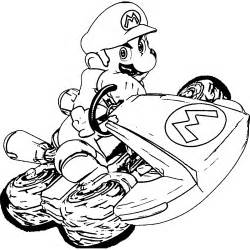 mario kart 8 coloring pages coloring home