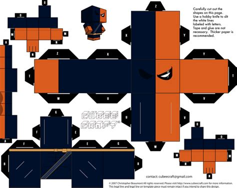Papercraft Shows 2014 - deathstroke cubeecraft by jagamen on deviantart