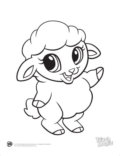 Learning Friends Sheep Baby Animal Coloring Printable From Coloring Pages Of Baby Animals