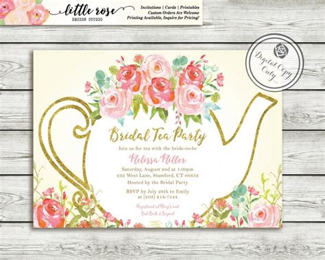 free bridal shower tea invitation templates garden tea bridal shower invitation high tea
