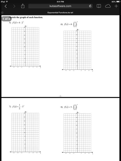 Graphing Exponential Functions Worksheet by Graphing Exponential Functions Worksheet Worksheets