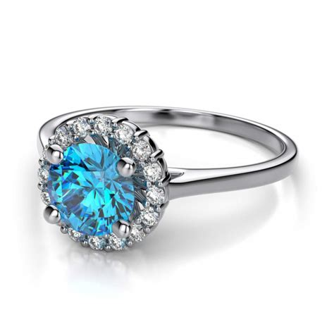 blue engagement rings meaning wedding and bridal