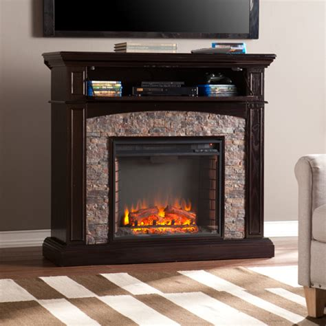 Electric Fireplace Faux by 45 5 Quot Grantham Faux Corner Electric Media Fireplace