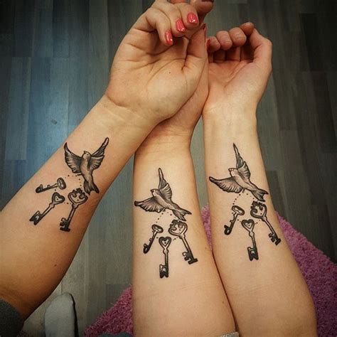 sister tattoos for 3 61 endearing designs with meaning