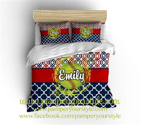 softball bedding on sale softball bedroom softball personalized bedding