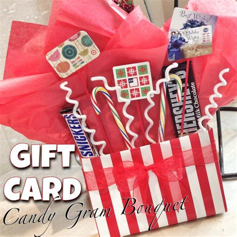 How To Make A Gift Card Bouquet - how to make gift card candy gram bouquet tip junkie