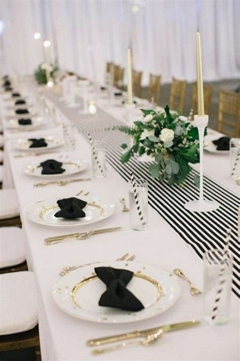 black and white table setting 43 black tie wedding ideas happywedd com
