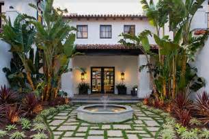 Spanish Style House Plans With Courtyard Spanish Style Outdoor Entry Country Home Design Ideas