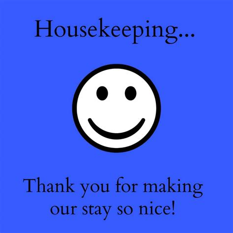 Thank You Letter After For Housekeeping Thank You Notes For Hotel Housekeeping Printables A Cork Fork Passport