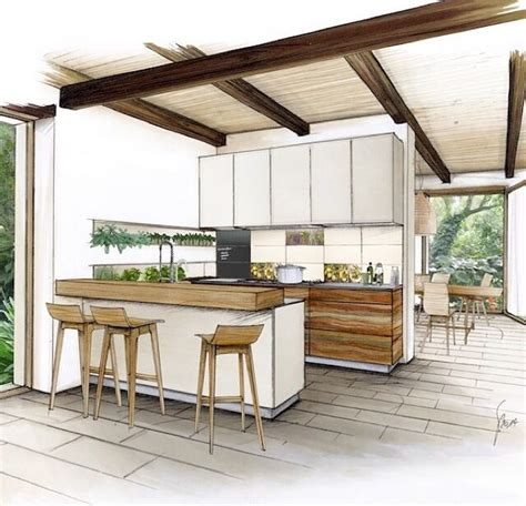 kitchen design sketch 25 best ideas about interior architecture drawing on