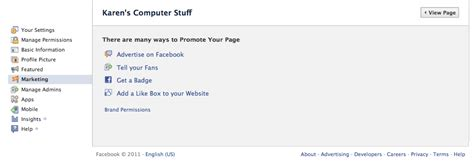 facebook business page about section the marketing section of facebook business pages editor