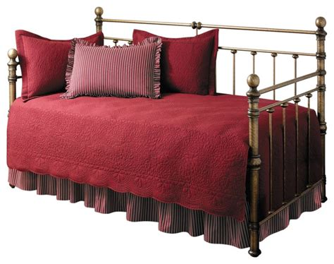 5 Piece Daybed Comforter And Bedding Set Scarlet Red 5 Daybed Bedding Sets