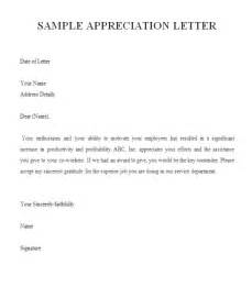 Appreciation Letter New Job Employee Appreciation Letter Format Gallery Image