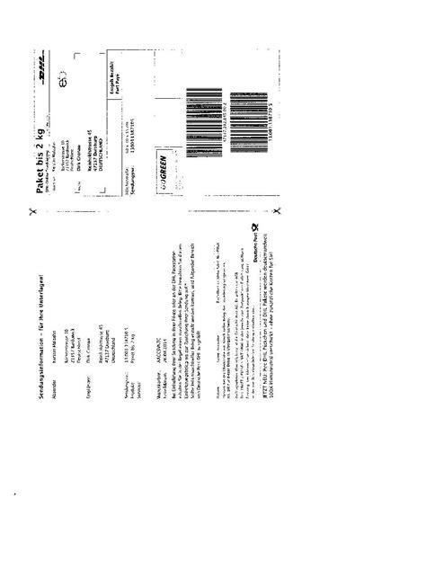 Dhl Paketschein Online Ausdrucken by Online Paketschein Ebay Community