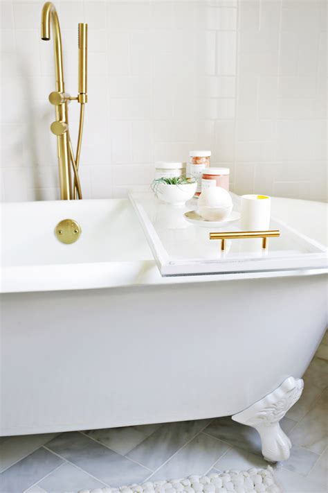 bathtub caddies lucite bathtub caddy diy a beautiful mess