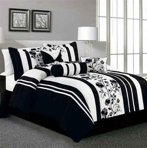 white and black bedding sets decorate my house