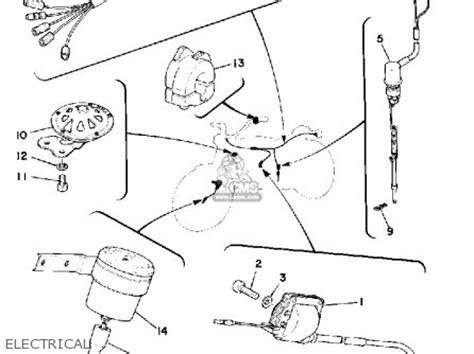 Yamaha Ty175c 1976 Parts List Partsmanual Partsfiche