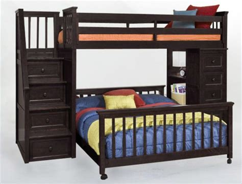 amazon bunk beds twin over full amazon com twin over full stair stepper bed with trundle