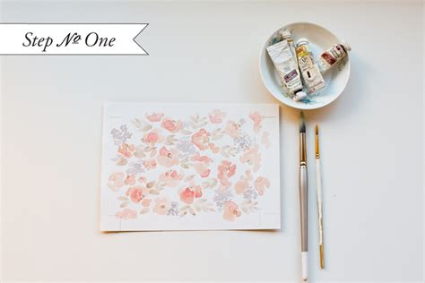 watercolor pattern tutorial diy watercolor floral pattern wedding invitations
