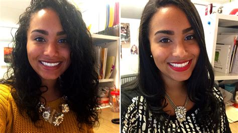 before and after straight to curly hair male curlpower women switch from curly to straight hairstyles