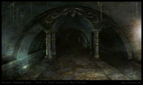 dungeon dark castle background dungeon level 2 level concept a main corridor by