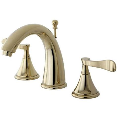 Home Depot Brass Bathroom Faucets by Kingston Brass Modern 8 In Widespread 2 Handle High Arc