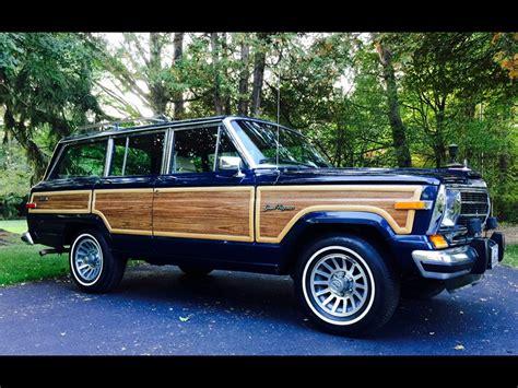 jeep wagoneer blue 1991 jeep grand wagoneer grand wagoneer by classic