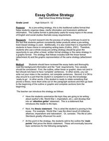 English Speech Essay Sample Best Photos Of English Outline Templates English Essay