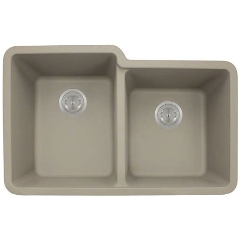 Slate Kitchen Sink Polaris Sinks Undermount Composite 33 In Basin Kitchen Sink In Slate P108 Slate The