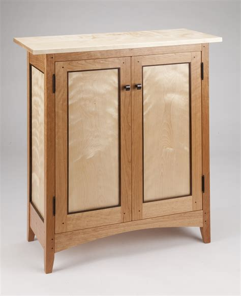 Kitchen Cabinets Solid Wood Construction Tom Dumke Handcrafted Furniture Side Cabinet Made Of