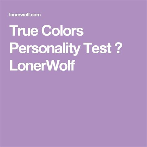 best 25 color personality test ideas on