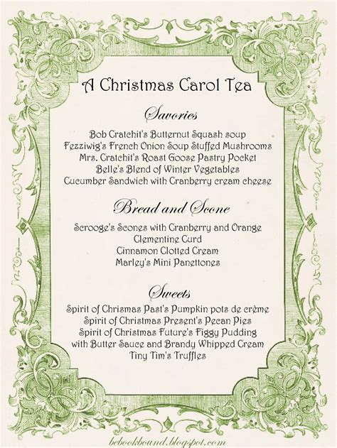 be book bound a christmas carol tea party