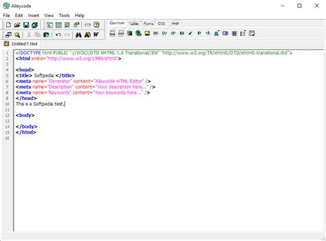 html layout editor free alleycode html editor download