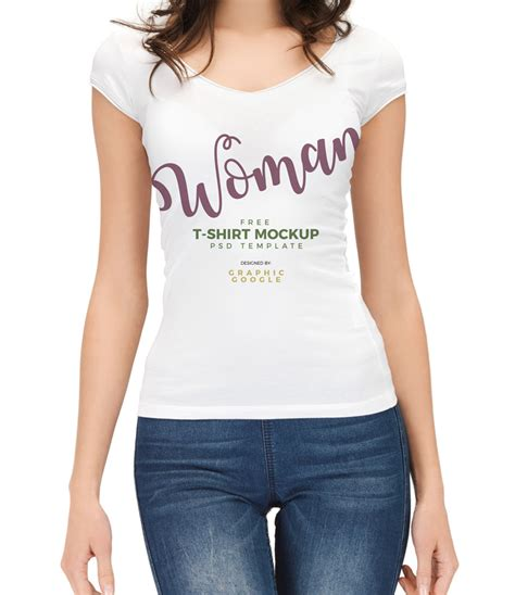 Beautiful Shirt Free Beautiful Wearing T Shirt Mockup