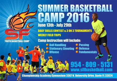 Summer Youth Basketball Camp   South Florida Youth