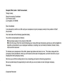 Offer Letter For Accountant Position 25 Offer Letter Exle Free Premium Templates