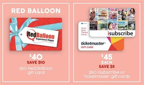 Target Ticketmaster Gift Card - expired 20 off 50 red balloon cards and 10 off 50 isubscribe and ticketmaster