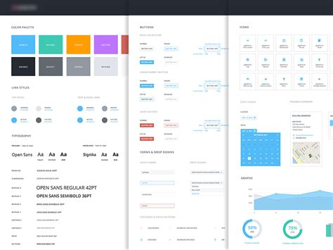 Ui Pattern Style Guide | ui style guide by anke mackenthun dribbble