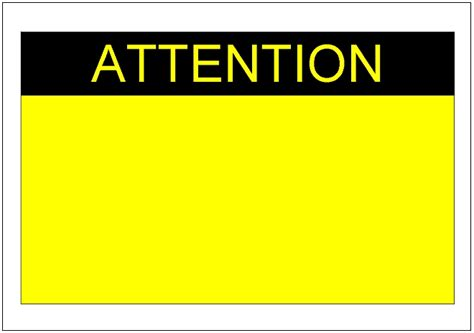 Attention Sign Template Https Momogicars Com Caution Sign Template