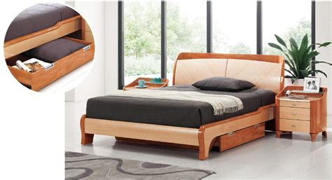 modern bed with storage lacquered elegant wood platform and headboard bed with