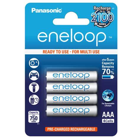 Panasonic Eneloop Aaa Isi 4 jual panasonic eneloop aaa 750mah 4pcs baterai harga dan