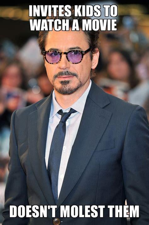 Robert Downey Meme - michael jackson really set a low bar good guy robert