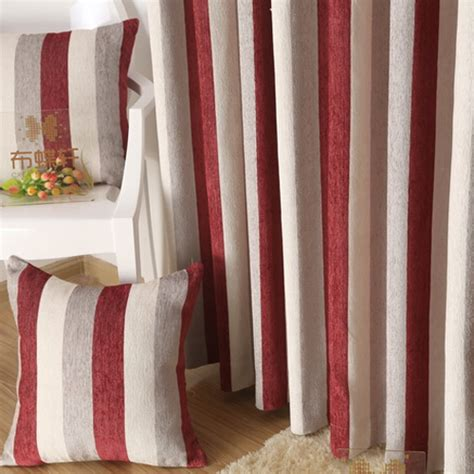 red white striped curtains simple chenille red white striped curtain for bedroom