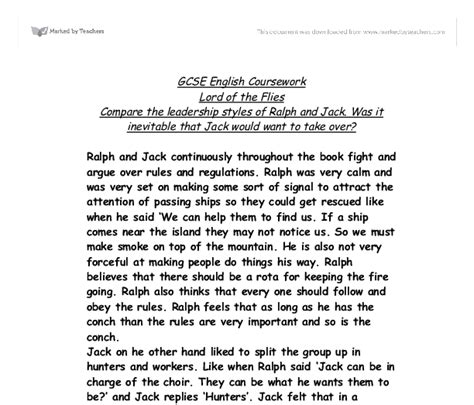Lord Of The Flies Leadership Essay by Lord Of The Flies Compare The Leadership Styles Of Ralph And Was It Inevitable That