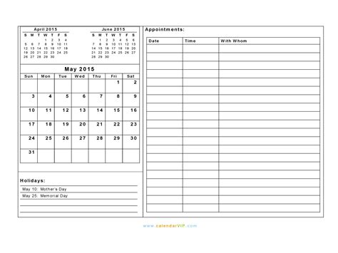 daily planner template may 2015 may 2015 calendar blank printable calendar template in